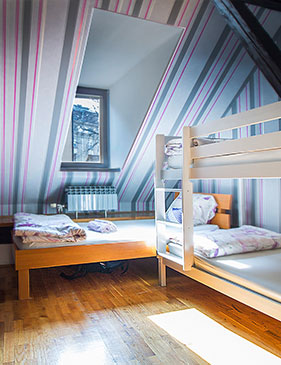 hostel centar zagreb - trokrevetna soba